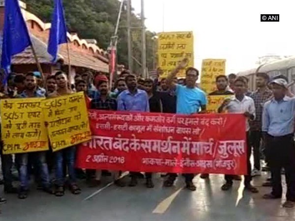 Dalits protest in Bihar against order on SC/ST Act
