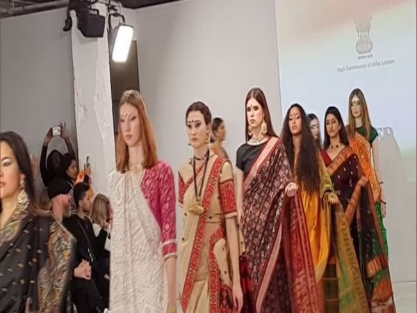 Saree Dazzles During India Day At London Fashion Week